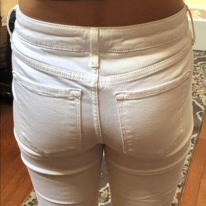 Old Navy Jeans - White ripped skinny jeans